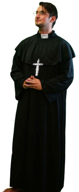 Vicar Costume With Cross